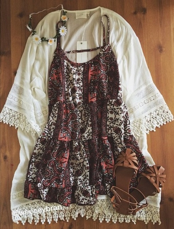 shoes boho sandals summer shoes jacket dress cardigan boho chic hipster floral white cute lace romper summer dress printed dress white cardigan kimono