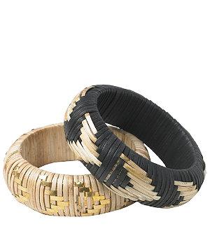2pk woven straw bangles