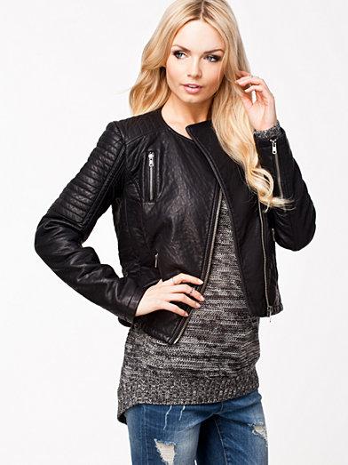 Plia X Pu Jacket - Object - Black - Jackets And Coats - Clothing - Women - Nelly.com