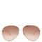Double-rim aviator metal sunglasses