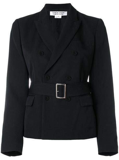 Comme des Garçons Comme des Garçons blazer double breasted women black wool jacket