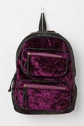 bag,backpack,velvet,purple,burgundy,black&bordeaux,velvet backpack,velver bag