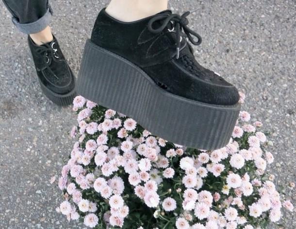 shoes black tumblr