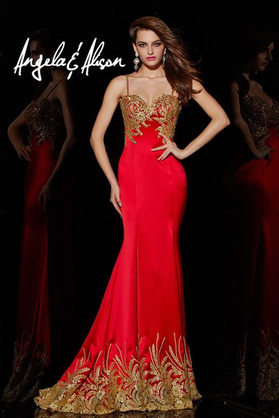 Images of Prom Dresses Red And Gold - Klarosa