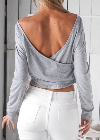 blouse grey sexy instagram pinterest fashion shirt top trendy girl girly girly wishlist