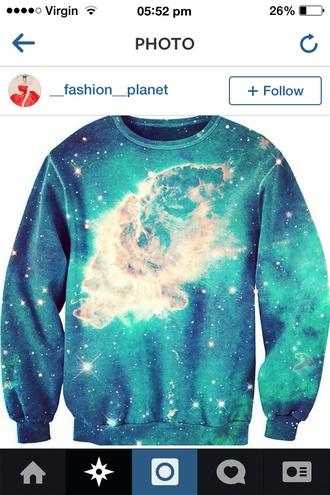 galaxy sweater jumper galaxy jumper blue sweater