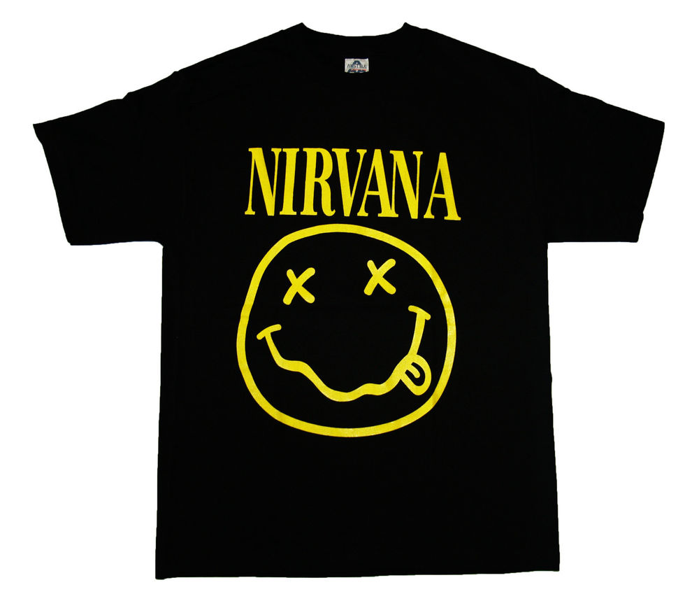 NIRVANA - Smiley Face - t shirt Brand New !!! S,M,L,XL
