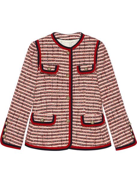 gucci jacket women cotton wool red