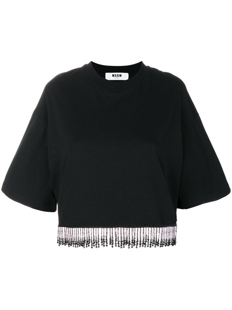 MSGM t-shirt shirt t-shirt women cotton black top