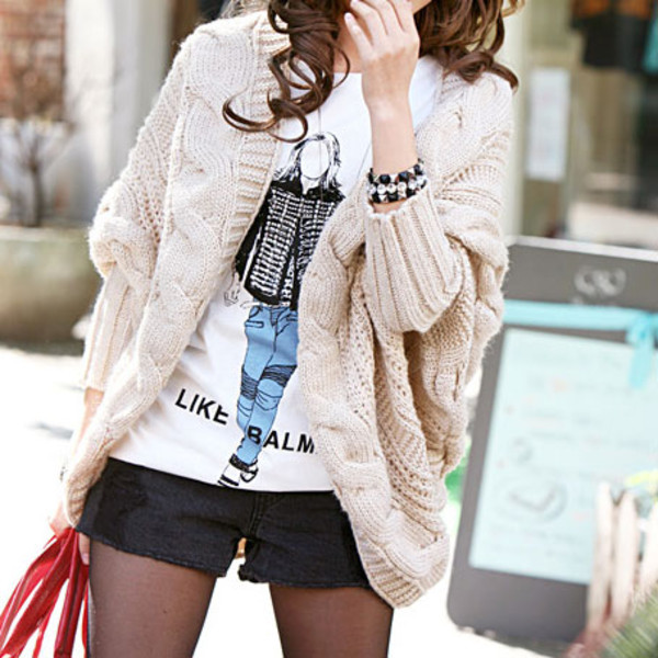 sweater cardigan leisure pure color elegant