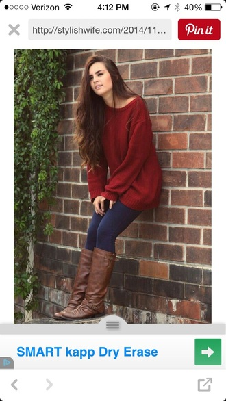sweater burgundy oversized cute oversized sweater
