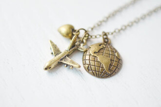 jewels travel travelling necklace bronze