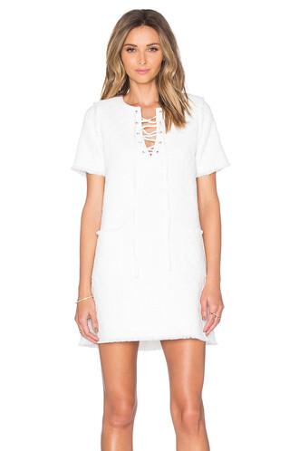 dress shift dress lace white