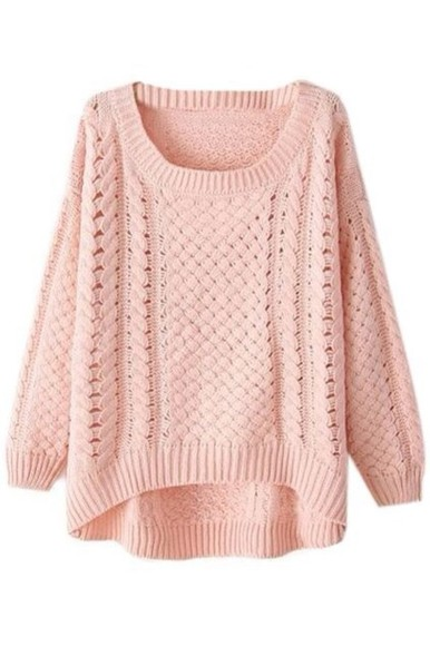 pink sweater knit sweater