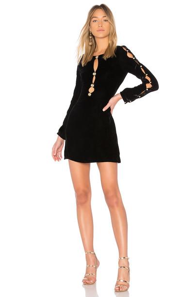 For Love & Lemons dress velvet black