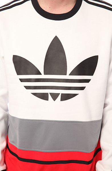 Adidas black the c90 art crewneck sweatshirt in white red black grey