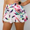 Festival neon rainbow feather prints skater flare beach shorts 6 8 10 12 | ebay