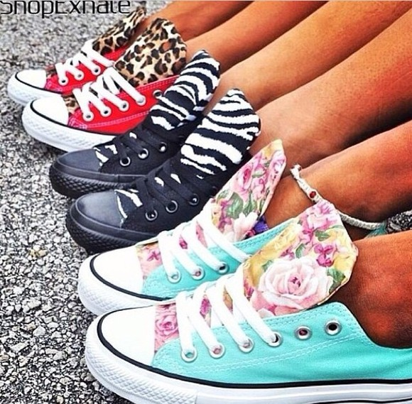 shoes cheetah black red converse zebra floral blue converse chuck taylor converse shoes