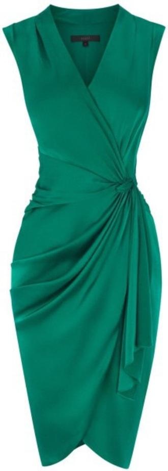 dress emerald green satin lavinia