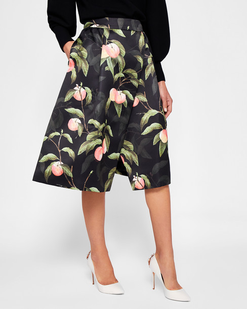 Ted Baker skirt wrap skirt black peach