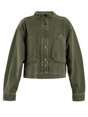 jacket,cropped jacket,denim,cropped,dark,green
