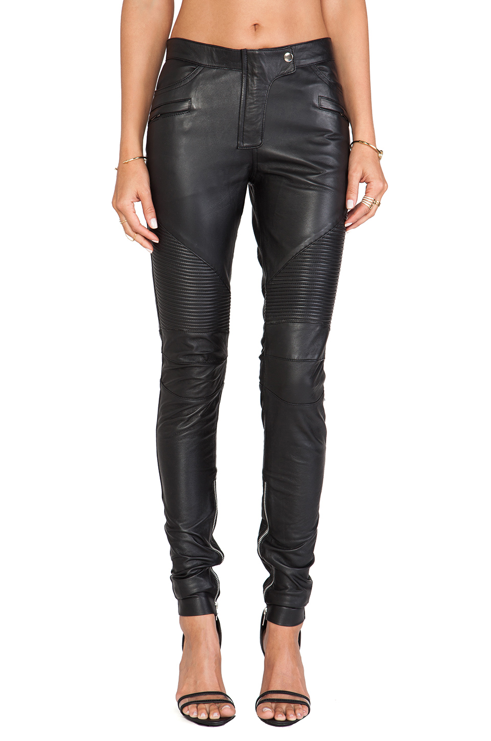 WINSTON WOLFE Biker Pants in Black from REVOLVEclothing.com