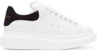 sneakers leather white black black leather shoes