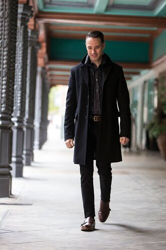 he spoke style blogger belt menswear mens coat mens shoes mens shirt
