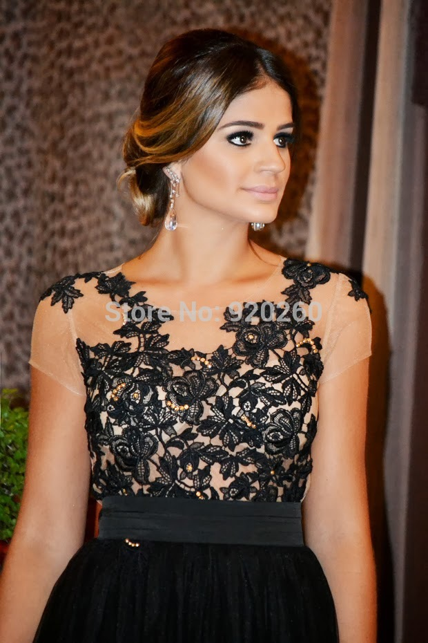 lace cut Picture - More Detailed Picture about Hot Sale Fashion Backless Black Lace Applique Elegant Long Evening Dresses Picture in Evening Dresses from The beautiful princess wedding dresses | Aliexpress.com | Alibaba Group