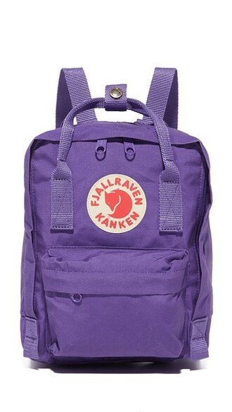 mini backpack purple bag