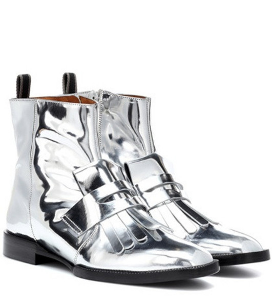 Clergerie Yousc leather ankle boots in silver