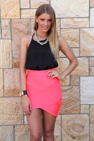 skirt crossover bandage skirt bandage neon skirt ustrendy skirt ustrendy