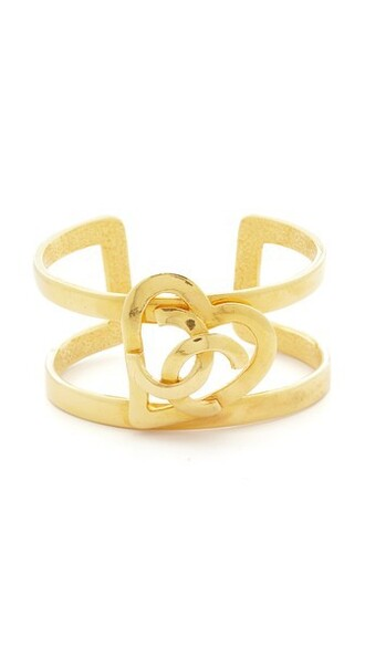 cuff heart open gold jewels