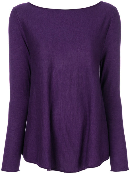 sweater knitted sweater women silk purple pink