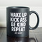 Wake up coffee mug - jac vanek