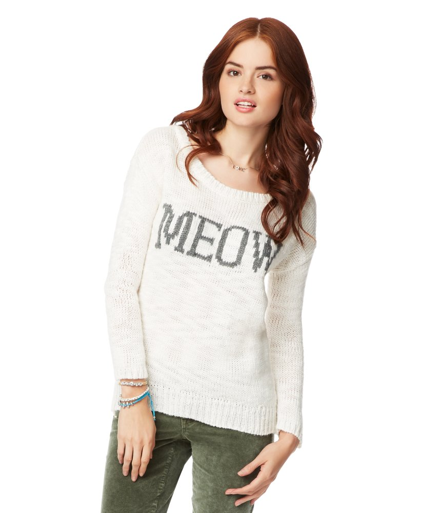 Meow Sweater - Aeropostale on Wanelo