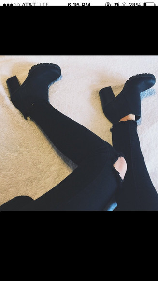 black boots boots cute boots trendy boots love them hipster booties with heals