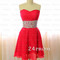 Sweetheart a-line red short prom dress,homecoming dress - 24prom