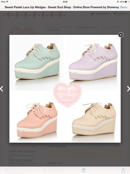 shoes pastel wedges
