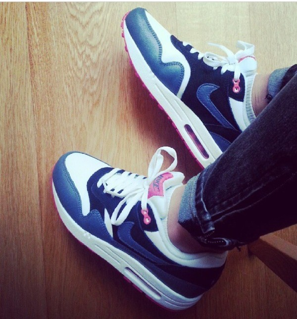 shoes nike blue grey pink sneakers air max air max