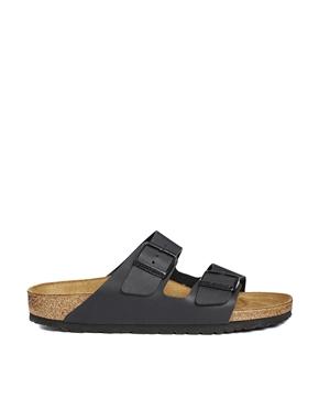 Birkenstock | Birkenstock Arizona Black Flat Sandals at ASOS