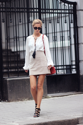 sirma markova blogger blouse skirt bag shoes jewels dress sunglasses