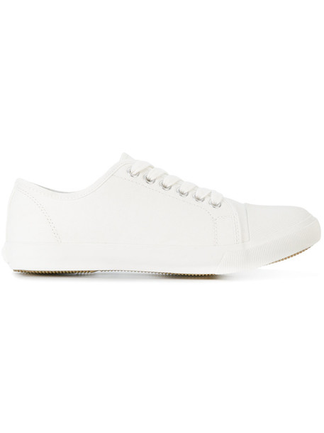 Margaret Howell women sneakers lace white cotton shoes