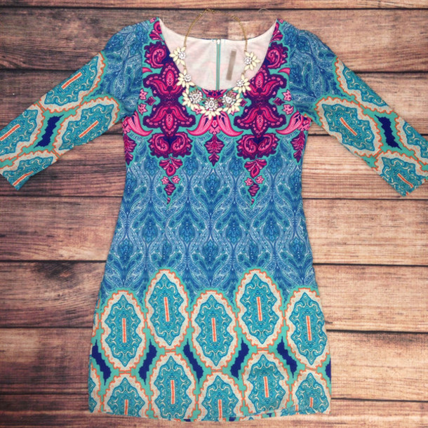 dress spring dress colorful prints