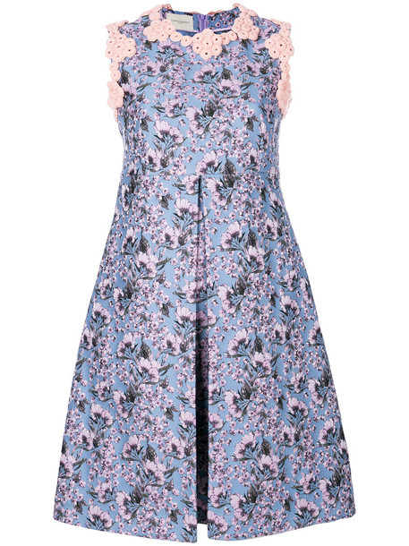Giuseppe Di Morabito dress women floral blue wool