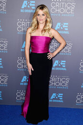critics' choice movie awards,reese witherspoon,strapless,gown,dress