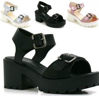 shoes mid heel cleated sole platform sandals mid heel sandals