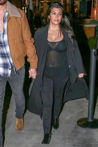 coat top sheer kourtney kardashian