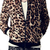 Men's Slim Stand-up Collar Long Sleeve Leopard Print Zip Jacket | Coat 1102 - WearingSales.com