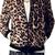 Men's Slim Stand-up Collar Long Sleeve Leopard Print Zip Jacket | Coat 1102 - WearingSales.com
